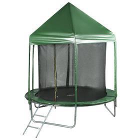 Батут 244 см с крышей, с сеткой 170 см, цвет зеленый