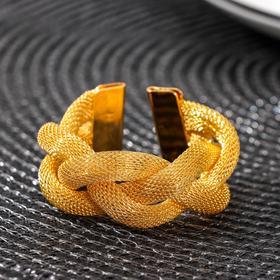 Кольцо для салфетки «Сплетение», цвет золото