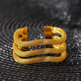 Кольцо для салфетки «Трипл», цвет золото