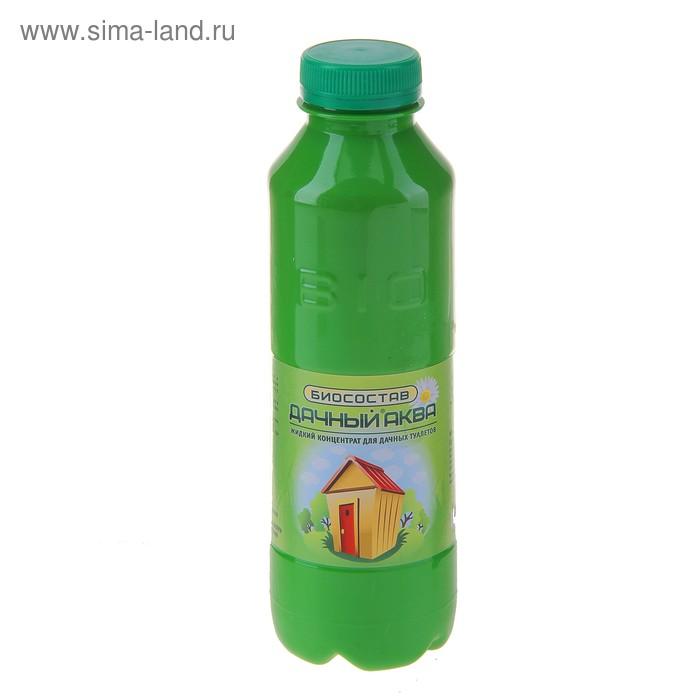Биосостав для дачных туалетов и выгребных ям с отдушкой, уск. формула, Дачный-Аква ж/к 0,5л