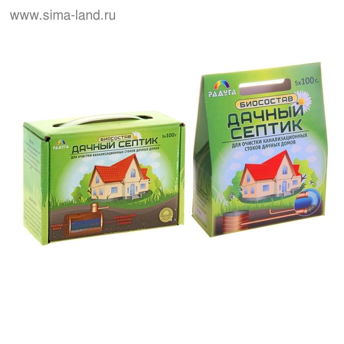 Биосостав для очистки канализационных стоков загородных домов Дачный-Септик 500 г