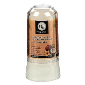Дезодорант минеральный кристаллический U&I, кокосовый, 80 г