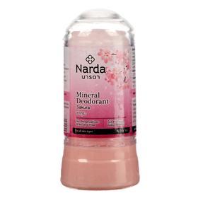 Дезодорант минеральный кристаллический Narda, сакура, 80 г