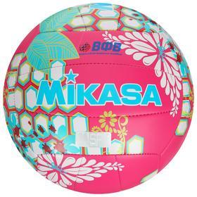 Мяч волейбольный пляжный MIKASA VXS-HS 1, размер 5, синтетическая кожа (ТПУ), ВФВ, 18 панелей, машинная сшивка, бутиловая камера, цвет малиновый