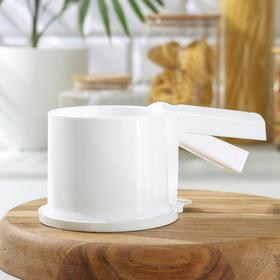 Просеиватель для муки Альтернатива, 22×12 см, цвет белый