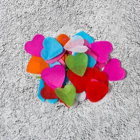 Наполнитель для шара «Конфетти сердца», 2,4 см, бумага, МИКС, 100 г