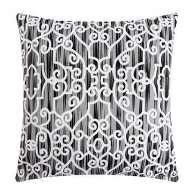 Наволочка декоративная 40х40 см, Pattern black, 100% хлопок - фото 7404227