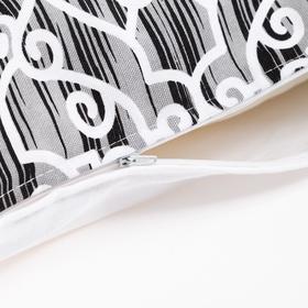 Наволочка декоративная 40х40 см, Pattern black, 100% хлопок - фото 7404228