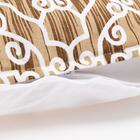 Наволочка декоративная 40х40 см, Pattern beige, 100% хлопок - фото 7404232