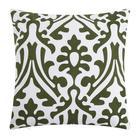 Наволочка декоративная 40х40 см, Monograms green, 100% хлопок - фото 7404267