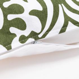 Наволочка декоративная 40х40 см, Monograms green, 100% хлопок - фото 7404268