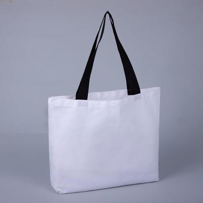 Сумка шопер, отдел без молнии, цвет белый/чёрный