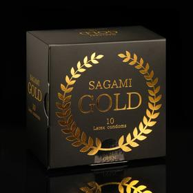 Презервативы Sagami Gold , 10 шт./уп.