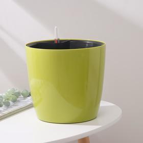 Горшок с автополивом Техоснастка «Комфорт», 5,5 л (вставка 4,5 л), цвет светлая олива