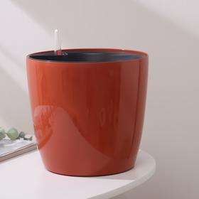 Горшок с автополивом Техоснастка «Комфорт», 5,5 л (вставка 2,7 л), цвет глина