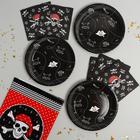 Набор посуды для праздника «С днём рождения», пиратская вечеринка