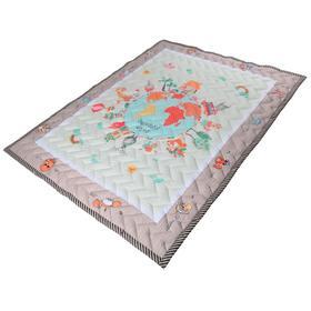 Коврик-одеяло «Планета», 150х200 см, складной, стёганый, цвет бежевый
