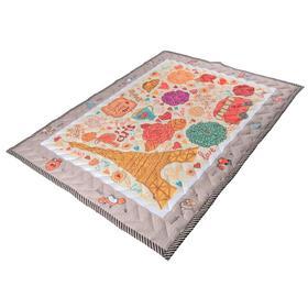 Коврик-одеяло «Париж», 150х200 см, складной, стёганый, цвет бежевый