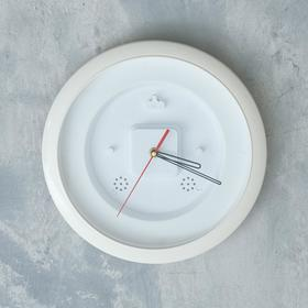 Часы-конструктор, под вставку, настенные, d=29 см, корпус белый