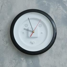 Часы-конструктор, под вставку, настенные, d=29 см, корпус чёрный