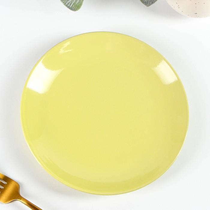 Тарелка десертная Доляна «Пастель», d=19 см, цвет жёлтый - фото 672734