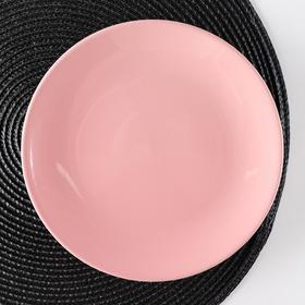 Тарелка десертная Доляна «Пастель», d=19 см, цвет розовый