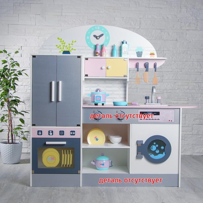 """УЦЕНКА Игровой набор, кухонный модуль """"Счастье"""" деревянная посуда в наборе - фото 832033"""
