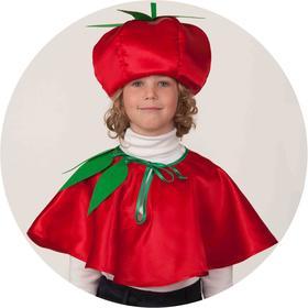 Карнавальный костюм «Помидор», накидка, головной убор, р. 30, рост 116 см