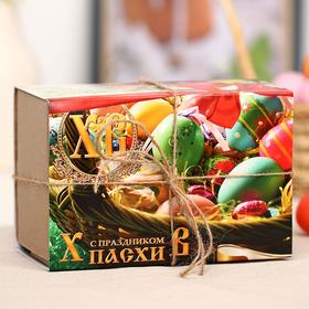 Подарочный набор «Счастливой Пасхи»: мёд, 140 г + чай, 50 г + ладан, 20 г + восковая свеча