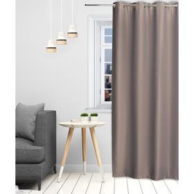Штора портьерная «Этель» 250×250 см, блэкаут на люверсах, цвет серый, пл. 210 г/м², 100% п/э