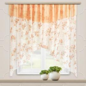 A set of curtains for the kitchen Nymph 300x180 cm, peach, pe 100%