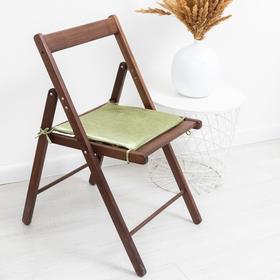Сидушка на стул блэкаут с тисн листья 34х34х1,5см зел.яблоко пэ100%