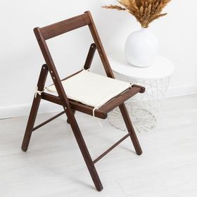 Сидушка на стул молочный 34х34х1,5см жаккард, пэ100%