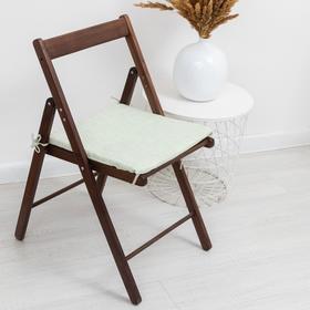 Сидушка на стул Лист зеленый 40х40х1,5cv жаккард, пэ100%