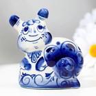 """Souvenir """"Snail"""", medium 6 cm, Gzhel"""