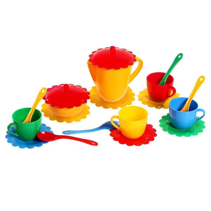 Большой набор детской посуды «Ромашка» на 4 персоны, МИКС - фото 1000157