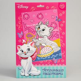 Аппликация пайетками Коты аристократы: Кошечка Мари + 5 цветов пайеток по 7 г