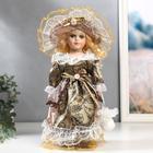 """Кукла коллекционная керамика """"Маленькая мисс в карамельном платье"""" 30 см"""
