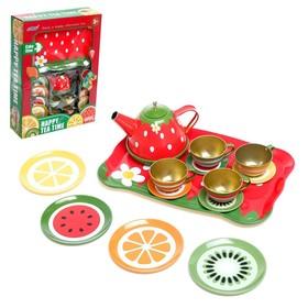 Набор металлической посудки «Летнее чаепитие», 14 предметов