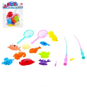 Рыбалка «Большие рыбки» 10 рыбок, 2 удочки, 2 сачка