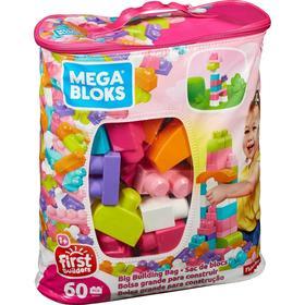 Конструктор 60 деталей Mega Bloks First Builders, цвет розовый
