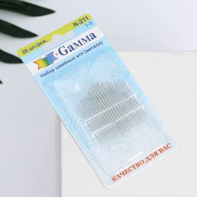 Hand sewing needles for sewing (set of 20 pieces) No. 1-5 blister Gamma.