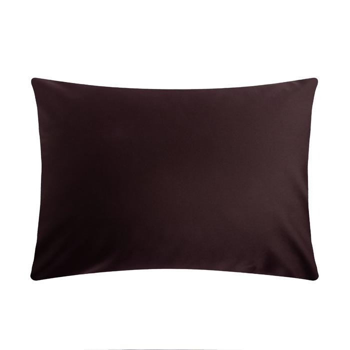 Наволочка Этель 50*70 см, цв.темно-коричневый, 100% хлопок, мако-сатин, 125 г/м² - фото 1210508