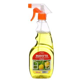 """Средство для мытья стекол """"Минута"""" Лимон 0,75 л"""