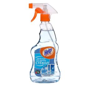 """Средство для мытья стекол """"Help"""" С нашатырным спиртом 0,5 л - фото 7390026"""