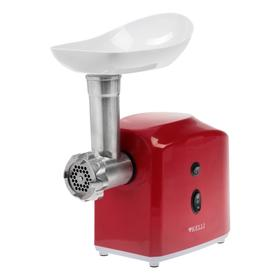 Мясорубка электрическая KELLI KL-5003, 1300 Вт, 2 скорости, 2 насадки, красная