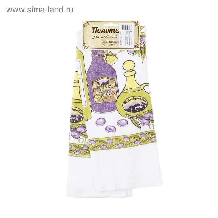 """Полотенце кухонное махровое """"Олива"""" 36х64 см, 100% хлопок"""