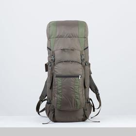 Рюкзак туристический, 80 л, отдел на шнурке, наружный карман, 2 боковые сетки, цвет оливковый