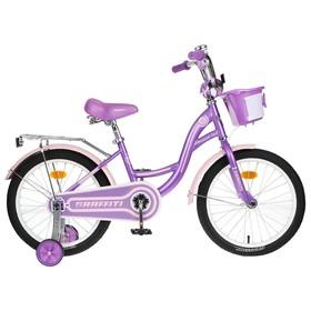 """Велосипед 18"""" Graffiti Premium Girl, цвет сиреневый/розовый"""