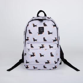 Рюкзак, отдел на молнии, наружный карман, цвет серый, «Такса»